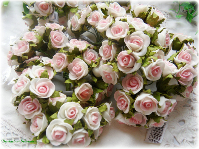 144 rosen hochzeit tischdeko kommunion rosa weiss verlobung taufe basteln ebay. Black Bedroom Furniture Sets. Home Design Ideas