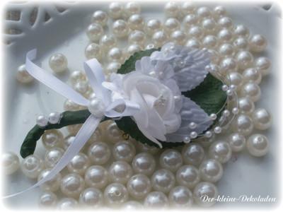 5 m perlendraht karte perlen weiss draht silber hochzeit tischdeko kommunion ebay. Black Bedroom Furniture Sets. Home Design Ideas