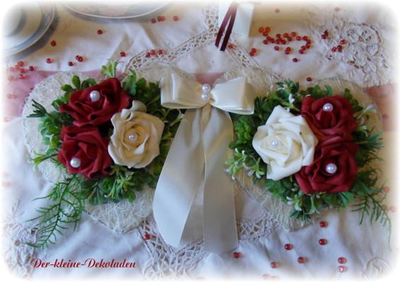 Tischdeko Bordeaux Creme 12 Tlg Hochzeit Verlobung Ebay
